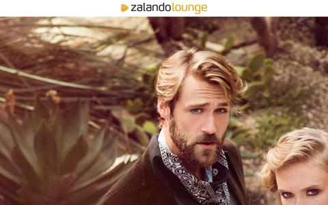 Screenshot of Home Page zalando-lounge.de - Exklusive Mode günstig online kaufen | Zalando Lounge - captured Sept. 18, 2014
