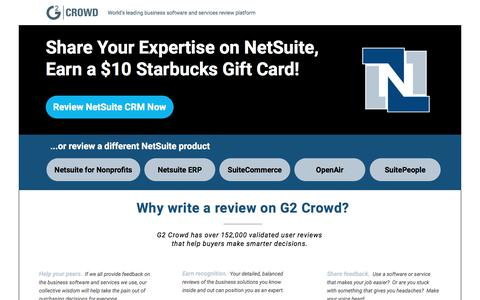 Screenshot of Landing Page g2crowd.com captured July 22, 2017