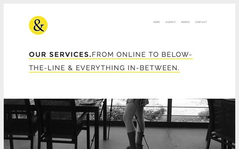Screenshot of Services Page breadandbutterdesign.co.za - Services - Bread & Butter Design - captured March 4, 2016