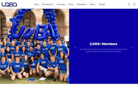 Screenshot of Home Page uqba.org.au - Home | UQBA - captured Oct. 27, 2017