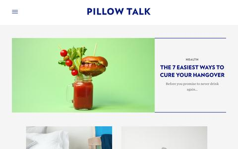Screenshot of Blog casper.com - Casper Mattress Bedtime Reading : Pillow Talk | Casper - captured March 29, 2016