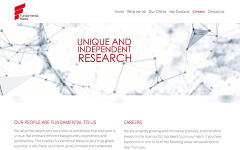 Screenshot of Jobs Page fundamentalmedia.com - Careers – Fundamental Media - captured July 20, 2019