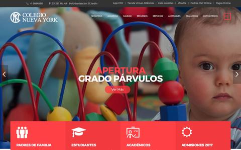 Screenshot of Home Page colegionuevayork.edu.co - Colegios Bilingues Calendario A Bogota - Colegio Nueva York - captured March 25, 2017
