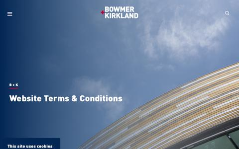 Screenshot of Terms Page bandk.co.uk - Website Terms & Conditions | Bowmer + Kirkland - captured Nov. 13, 2018