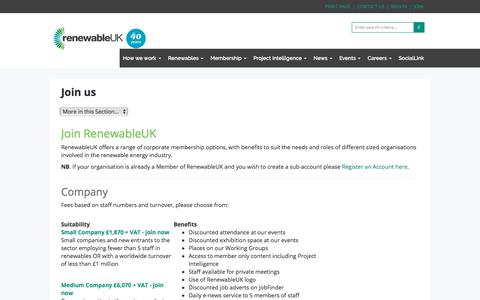 Screenshot of Signup Page renewableuk.com - Join us - RenewableUK - captured Sept. 22, 2018
