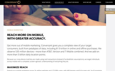 Mobile Marketing | Target Marketing | Conversant