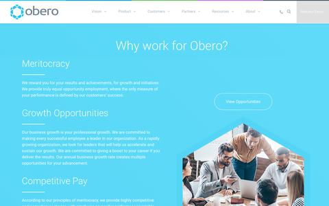 Screenshot of Jobs Page oberospm.com - Careers - Obero SPM - captured Dec. 4, 2017