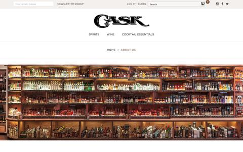 Screenshot of About Page caskstore.com - About Us - captured July 16, 2018