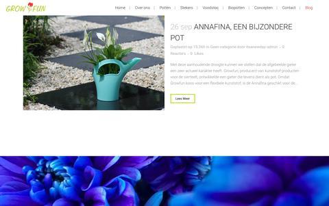Screenshot of Blog growfun.nl - Growfun |   Blog - captured Nov. 11, 2018