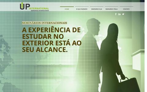 Screenshot of Home Page upseminarios.com - Seminários Internacionais, seminários internacionais, módulo internaci - captured Oct. 4, 2014