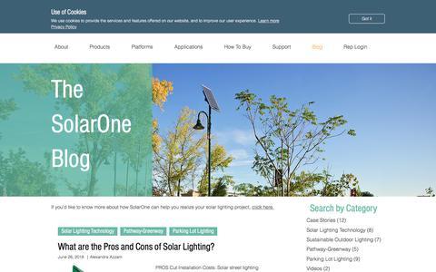 Screenshot of Blog solarone.net - Blog | SolarOne Solutions, Inc. - captured July 13, 2018