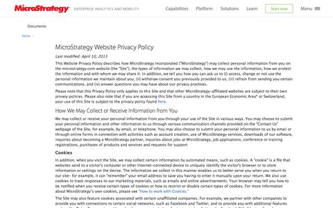 Privacy Policy | MicroStrategy