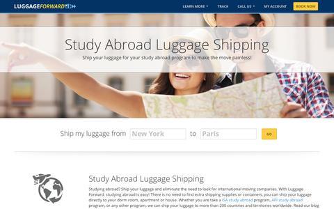 Study Abroad Luggage Shipping | Ship Luggage Abroad