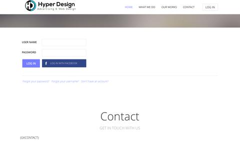 Screenshot of Login Page hyper-design.com - Hyper Design - Hyper Design - captured Sept. 30, 2014