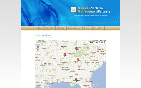 Screenshot of Locations Page mp2inc.org - MP2  |  Locations - captured Oct. 4, 2014