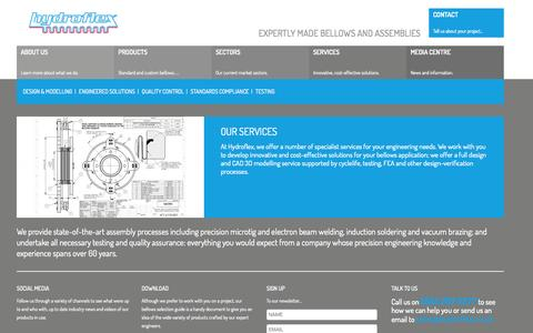 Screenshot of Services Page hydroflex.co.uk - Specialist Engineering Services - Precision Bellows and Tubing | Hydroflex - captured Oct. 3, 2014