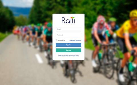 Screenshot of Login Page getralli.com - Ralli - Login - captured Oct. 6, 2014