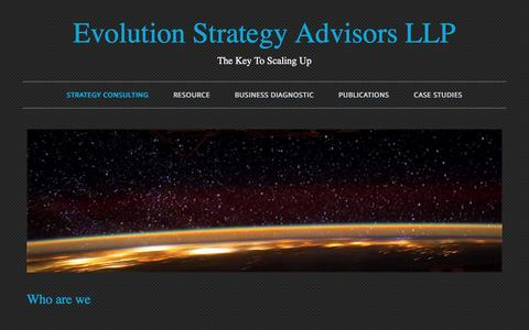 Screenshot of Home Page theevolutionconsulting.com - Strategy Consulting | Evolution Strategy Advisors Marketing Consultant - captured Nov. 12, 2016