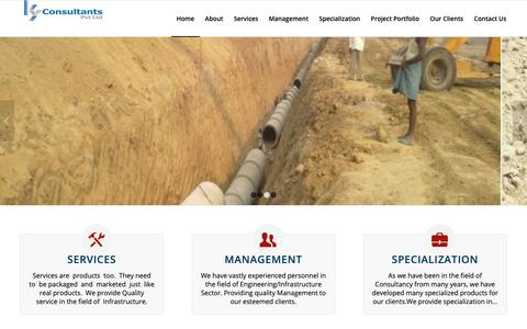 Screenshot of Home Page kyconsultants.in - K.Y .Consultants Pvt. Ltd. - captured Oct. 16, 2018