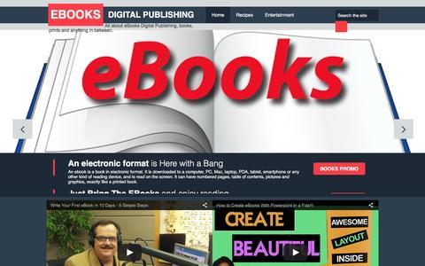 Screenshot of Home Page ebooks-digital-publishing.blogspot.com - EBooks Digital Publishing - captured June 25, 2016