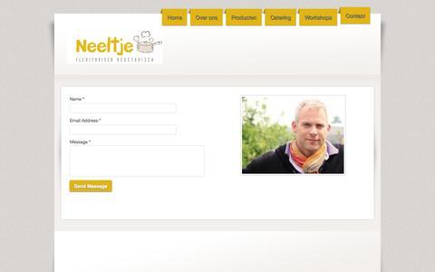 Screenshot of Contact Page webs.com - Delicatessenzaak Neeltje - Contact - captured Sept. 13, 2014