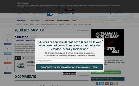 Screenshot of About Page club-mba.com - ¿Quiénes somos? | club-mba.com - captured Dec. 9, 2015