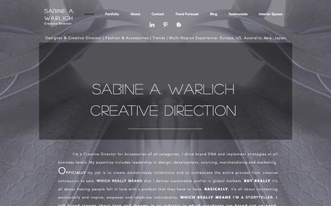Screenshot of Home Page icon-trend.com - Icon-Trend - Sabine A. Warlich | Sydney, Australia - captured June 7, 2017