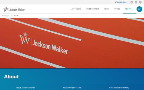 Screenshot of About Page jw.com - Law Firm Profile | Jackson Walker L.L.P - captured July 7, 2017