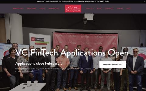 Screenshot of Home Page venturecenter.co - The Venture Center - captured Jan. 29, 2017