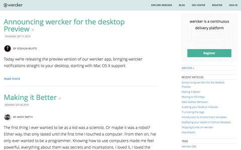 Wercker Blog