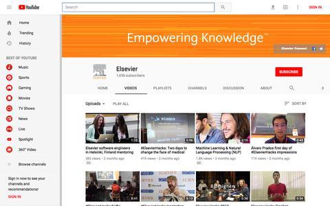Elsevier - YouTube - YouTube