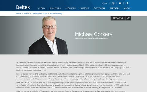 Screenshot of Team Page deltek.com - Michael Corkery | Management Team | Deltek - captured April 19, 2019
