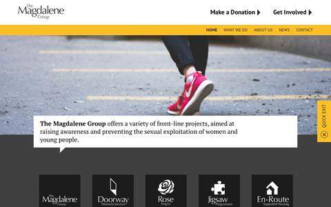 Screenshot of Home Page magdalenegroup.org - The Magdalene Group: Offering opportunity for change - captured Nov. 10, 2017