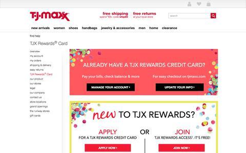 TJX Rewards® Card - T.J.Maxx