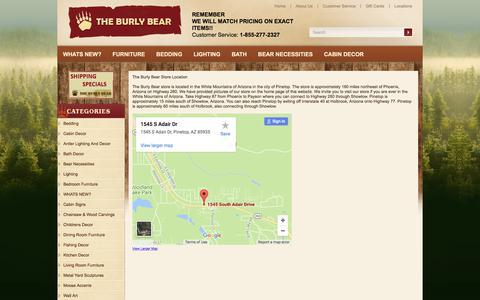 Screenshot of Locations Page theburlybear.com captured Nov. 6, 2017