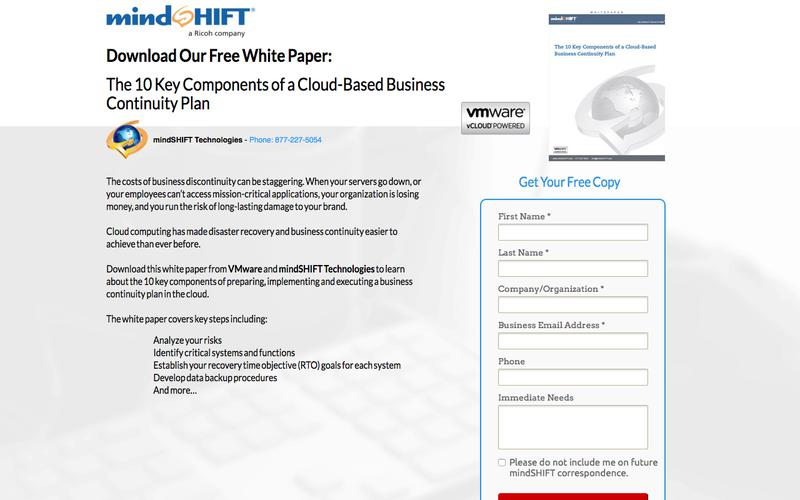 Whitepaper - 10 Key Components of a Cloud-Based Business Continuity Plan