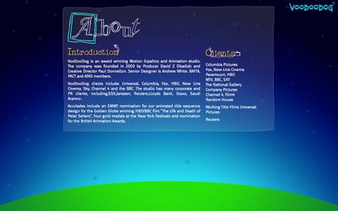 Screenshot of About Page voodoodog.com - About VooDooDog - captured Oct. 9, 2014