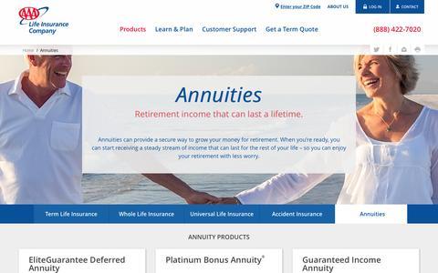 Annuities - Deferred & Immediate - AAA Life Insurance Company