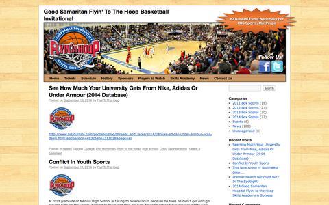 Screenshot of Press Page flyintothehoop.com - News | Good Samaritan Flyin' To The Hoop Basketball Invitational - captured Sept. 30, 2014