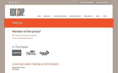 Screenshot of Press Page rcktshp.com - Press - RCKTSHP - captured Oct. 28, 2014