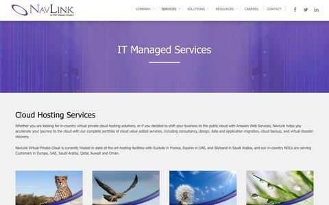 Screenshot of Services Page navlink.com - Managed Services | UAE | KSA | QATAR | KUWAIT  | NavLink - captured Oct. 27, 2017