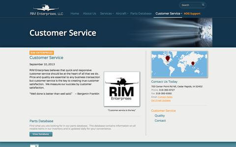 Screenshot of Support Page riment.com - Customer Service Should Be at the Heart of All That We Do - captured Nov. 4, 2017