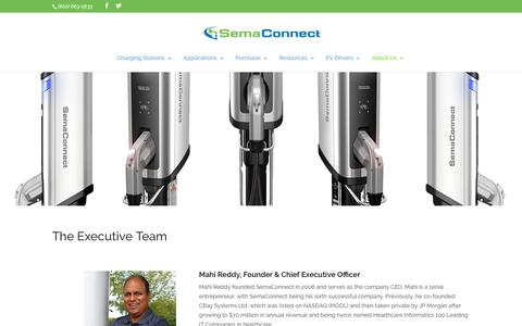 Screenshot of Team Page semaconnect.com - Executives - Smart Electric Vehicle (EV) Charging Stations - captured Nov. 8, 2019