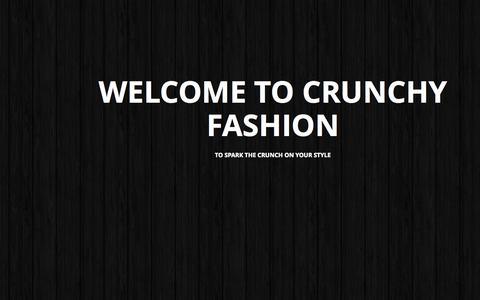 Screenshot of Home Page crunchyfashion.com - Online Shopping Women Accessories - Indian Designer Jewellery - captured Sept. 18, 2014