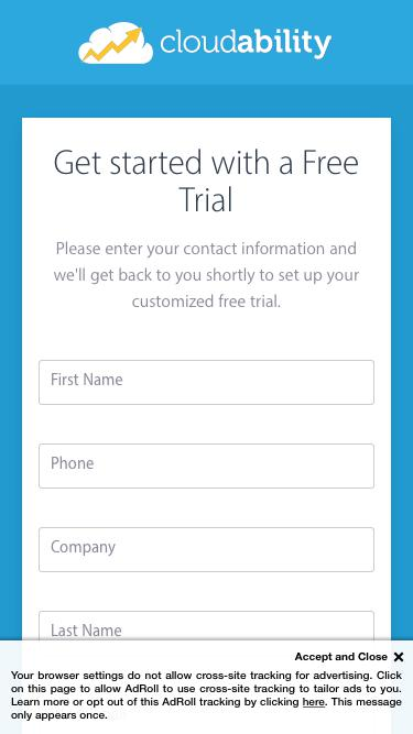 Cloudability | Sign up For a Free Trial