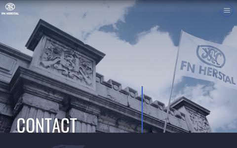 Screenshot of Contact Page fnherstal.com - Contact   FN HERSTAL - captured Nov. 6, 2018