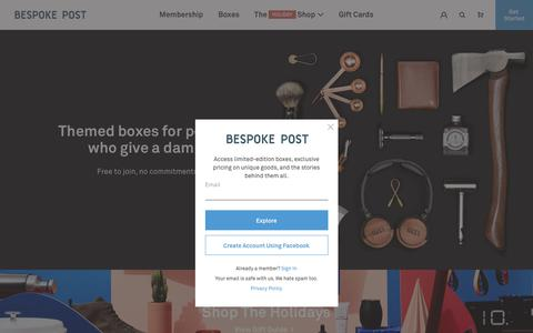 Screenshot of Home Page bespokepost.com - Bespoke Post - Themed Subscription Boxes   Box of Awesome - captured Dec. 9, 2019