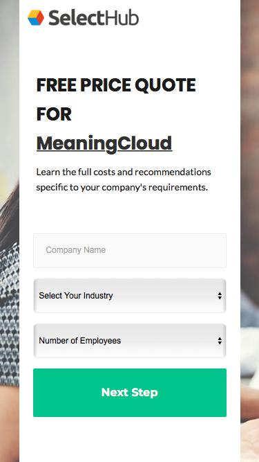 Get Product Pricing for MeaningCloud