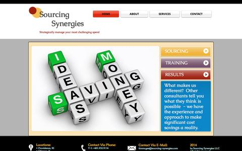 Screenshot of Home Page sourcing-synergies.com - Welcome To Sourcing-Synergies - captured Aug. 14, 2016