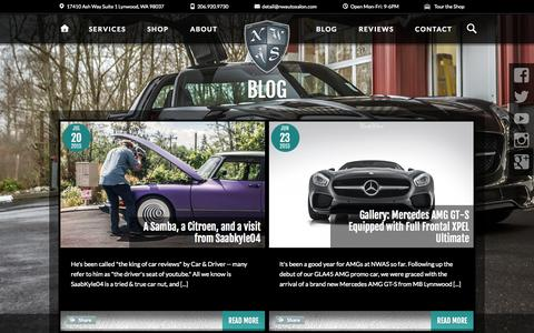 Screenshot of Blog northwestautosalon.com - Featured at NWAS | NorthWest Auto Salon - captured Aug. 13, 2015